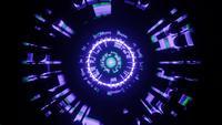 Mouvement lumineux techno flashy