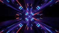 Lichtgevende diamantvormige Cyber-ingang in Slow-Motion