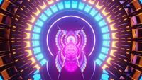 Konstnärlig reflexionsportal för neonljus