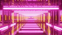 Psychedelic Reflecting Endless Tunnel 4k uhd 3d Rendering vj Schleife