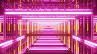Psychedelic Reflecting Endless Tunnel 4k uhd 3d rendering vj loop