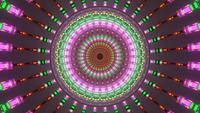 Rosa braune vibrierende Lichtwelle 4k uhd 3d Rendern vj Schleife