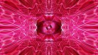 Loop psicodélico VJ criativo brilho rosa energia neon