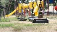 Empty swings on the playground