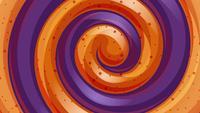 Orange und violette Strahlen drehen sich