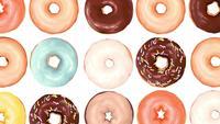 Mischung aus bunten süßen Donuts