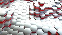 Abstract hexagon 3d rendering