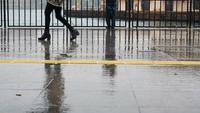 Regentag im Istanbul Kadikoy