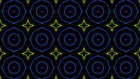 Neonlaser mit Kaleidoskopmuster
