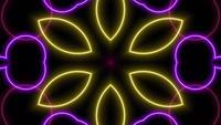 Animación caleidoscopio patrón neón láser