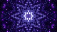 Agujero de estrella de neón abstracto 3d ilustración visual vj loop