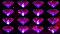 Partículas de diamantes roxos