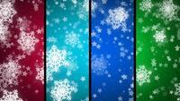 Kleurrijke Sneeuwvlokachtergrond