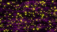 Paticules de coeur jaune