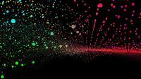 Futuristiska regnbågens miljoner partiklar glitter vågform