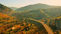Luchtfoto op gebied in hooglanden