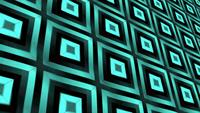 Patrón de mosaico geométrico 3D degradado azul verde lazo