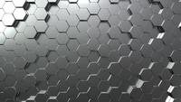 Silver Hexagon Honeycomb Movement Bakgrund