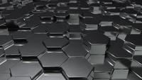 Abstract Black Metallic Honeycomb Background