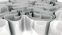 Abstracte witte golvende papier Spline Morphing beweging