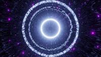 VJ Loop 3d ilustración reflectante túnel espacial abstracto