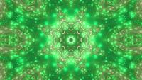 Grünes Kaleidoskop VJ Loop 3d Illustration Abstract Event