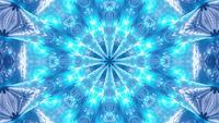 VJ Loop 3d illustratie Caleidoscoop Mandala patroon blauwe ster