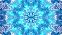 VJ Schleife 3d Illustration Kaleidoskop Mandala Muster Blauer Stern