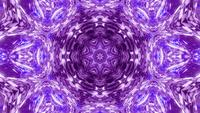 Vj loop 3d illustration pink star kalaidoscope pattern mandala