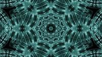 VJ loop 3d ilustración formas de estrella patrón de kalaidoscopio mandala