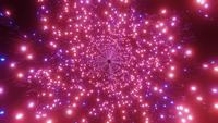 DJ boucle illustration 3d brillant tunnel de néons rond