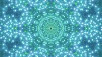 VJ loop 3d illustration green abstract star implosion