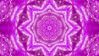 VJ loop 3d illustration pink star shape kalaidoscope pattern mandala