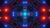 Ilustración 3d de tubos técnicos abstractos