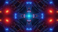 Abstrakte technische Rohre 3d Illustration