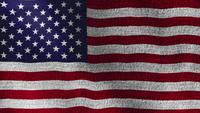 USA National American Flag Denim Stoff Textur winken