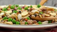 Mezcla de legumbres en un plato