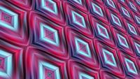 Mouvement de boucle hypnotique géométrique dégradé rose turquoise 3D