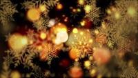 Julnyårsfest festliga ögla gyllene bokeh snöflingor