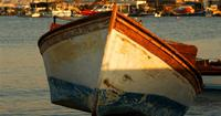 Old Fishing Boat Towed