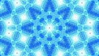 VJ LOOP 3d illustration blue abstract art kaleidoscope mandala