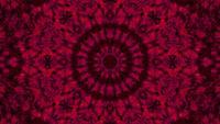 Caleidoscoop 3d illustratie vj lus met rode abstracte kunst mandala