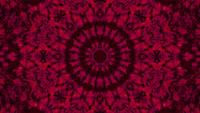 Caleidoscopio 3d ilustración vj lazo con mandala de arte abstracto rojo
