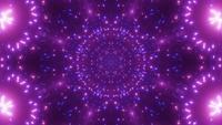 Blinkendes Neonteilchen beleuchtet 3d Illustration vj Schleife