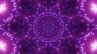 Blinking neon particle lights 3d illustration vj loop