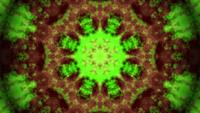 Green Brown smoke kaleidoscope mandala pattern