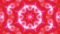 Red star abstract art kaleidoscope mandala
