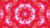 Mandala de caleidoscopio de arte abstracto de estrella roja