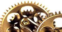 Vintage Golden Gears Mechanismus