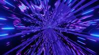 Blue neon lights tunnel sci fi 3d illustration vj loop
